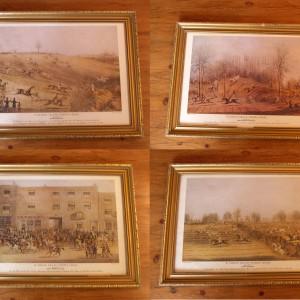 Set of 6 Gilt Framed Racing Prints