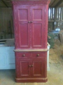 Painted & Distressed Larder Cupboard
