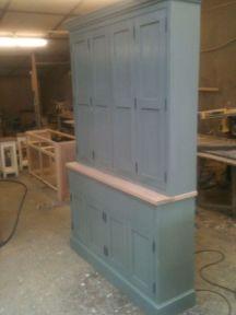 Large Bespoke Painted Kitchen Larder Cupboard