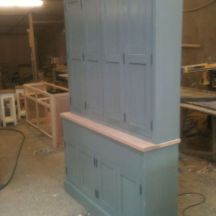Large Bespoke Painted Kitchen Larder Cupboard