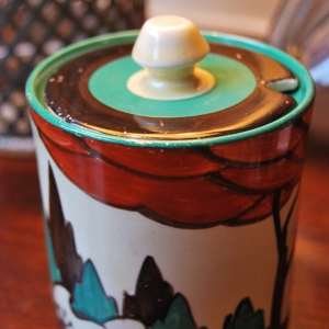 Original 1920s Clarice Cliff Jam Pot