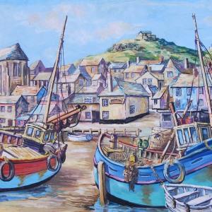 """St Ives Harbour"" Circa 1960 by Artist Marsden Prophet"