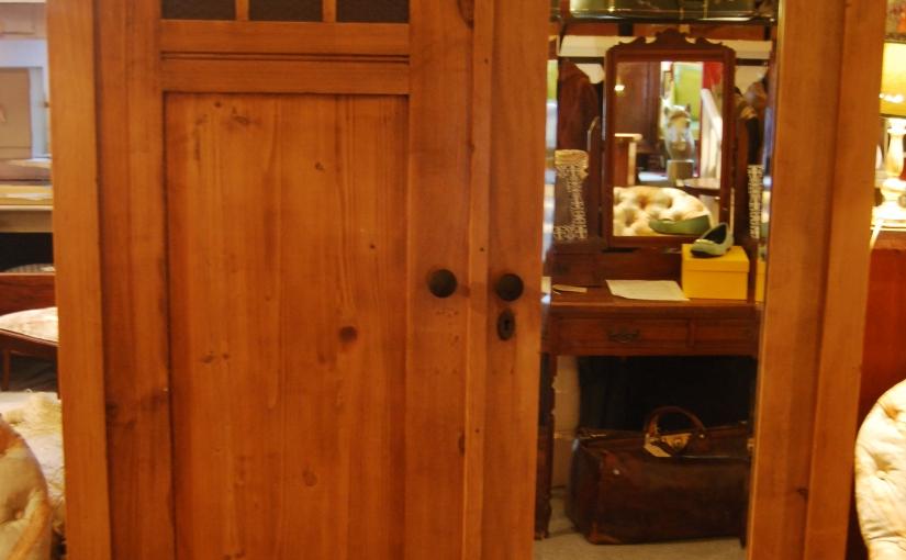 1920s Antique Pine Wardrobe in DecoStyle