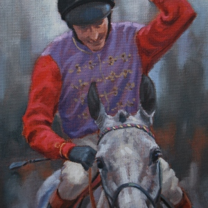 Original Gilt Framed Oil on Canvas by Neil Cawthorne SEA featuring the Royal Winner