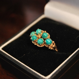 1920s 8-Carat Gold Ring with Turquoise Stones, £155