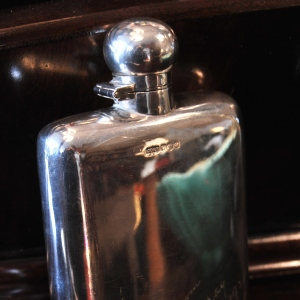 Solid Silver English Hip Flask