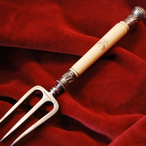 Mappin Brothers Ivory Handled Pickle Fork