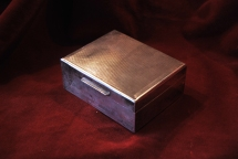Solid Silver English Cigarette Box 1954