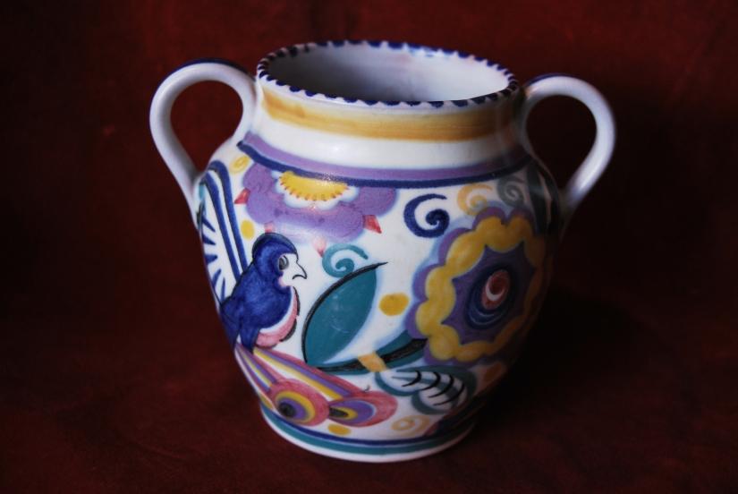 Original Poole Pottery Vase by Dorothy James 1921,£125