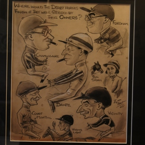 "A Set of 3 Caricatures by sports cartoonist ""The Tout"" 1944, £650 each"