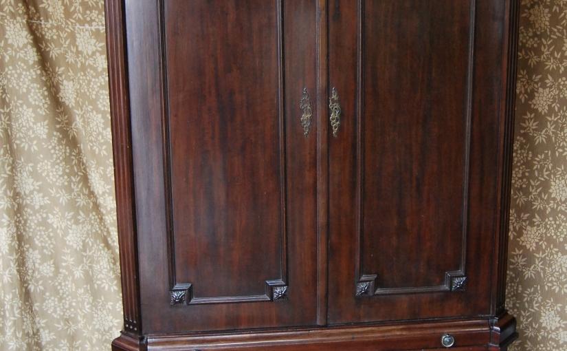 Mid-19th Century Solid Mahogany Estate Cupboard,£1295