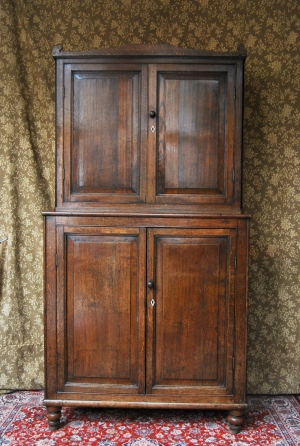 Antique Regency Provincial Oak Country Housekeepers Cupboard, £795