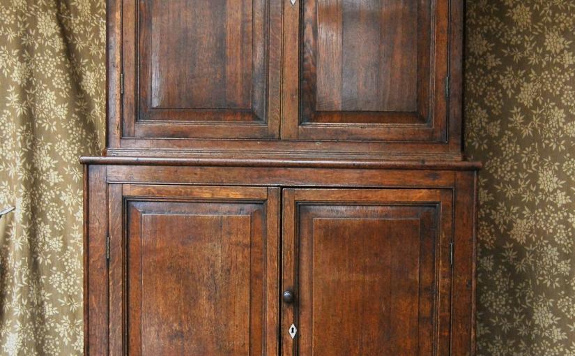 Antique Regency Provincial Oak Country Housekeepers Cupboard£795