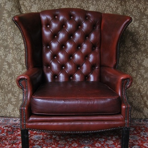 Vintage Antique-Style Faux Leather Wingback Chair £169
