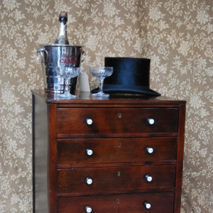 George III Mahogany Filing Chest of Drawers, £600