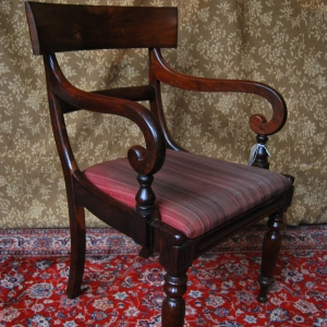 7 Original Mid-Victorian Bar-back Dining Chairs in Solid Mahogany SOLD