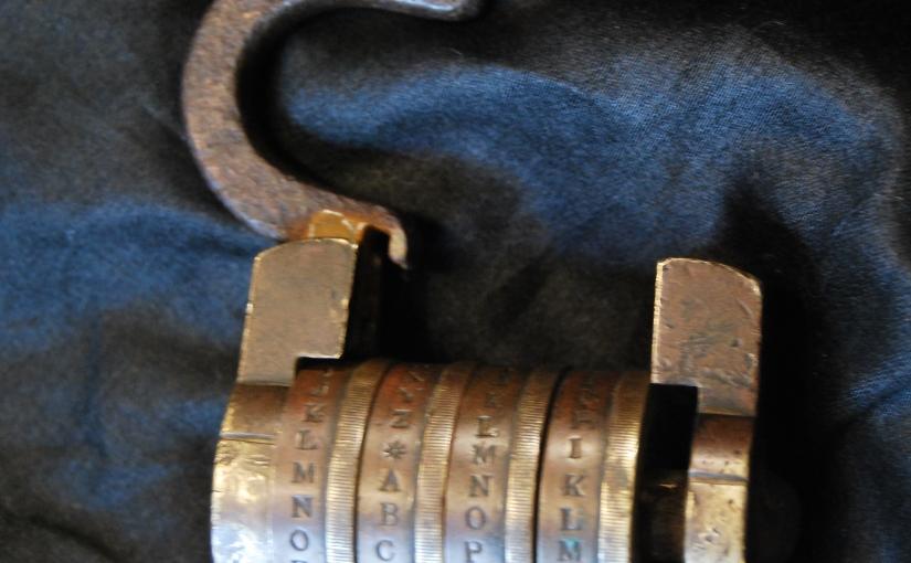 Rare Antique 26-Letter Combination Lock,£79