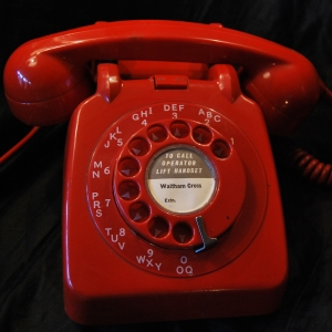 Original late 1950s GPO Red Lacquer-finish Telephone £39