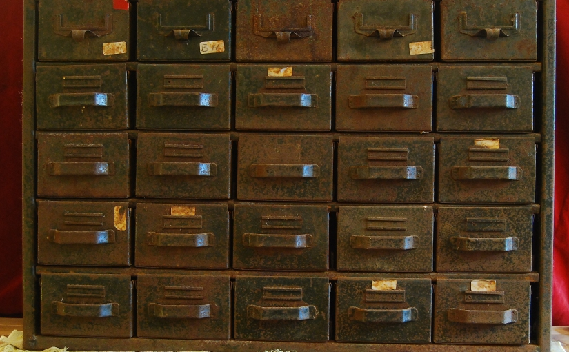 Industrial Metal 25 Drawer Metal Chest
