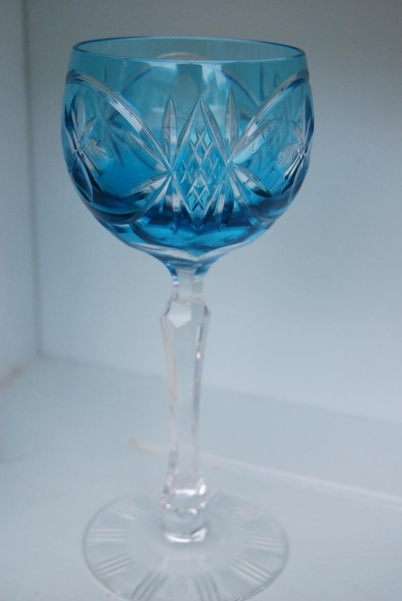 Set of 6 Mid-20th Century Bohemian Long Stemmed Hock Glasses,£69