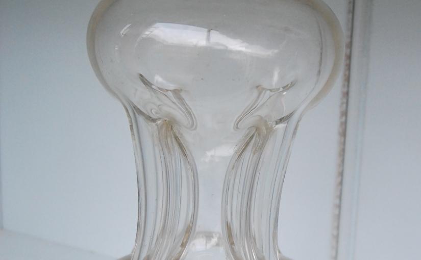 Unusual Glug Decanter with Silver Collar 1904£115