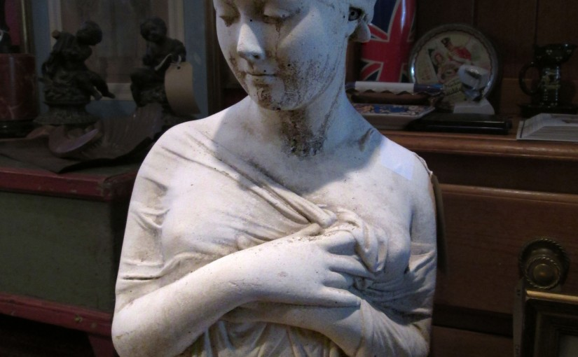 Original French 1930s Alabaster Bust