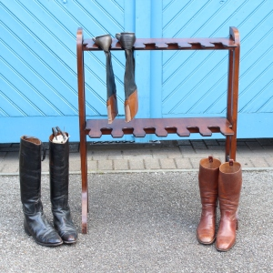 19th Century Mahogany Tack Room Boot Stand, £229