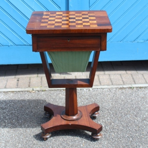 Regency Period Rosewood Sewing Table, A/F £495