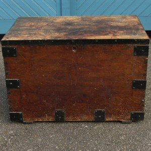 Solid Pine Early 20th Century Cargo Trunk