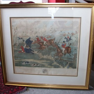The Grand Leicestershire Hunt Plate 5. by H. Alkan Jr. 1888.