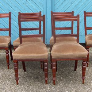 Set of 6 Late Victorian Mahogany Dining Chairs