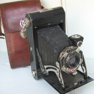1940s Kodak six-20 Folding with Original Leather Case