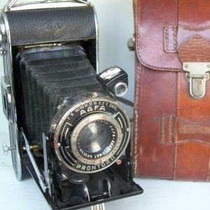 1950s Agfa Prontor II with Original Leather Case