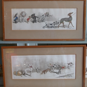 'Dirty Dogs of Paris' signed Lithograph scenes by Boris O'Klein
