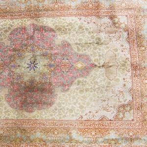 Silk Qum Rug, signed 'Mohammadi'