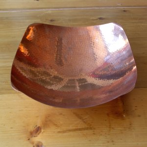 Handbeaten Copper Fruit Bowl c. 1960s by LRT Barrowdale Keswick