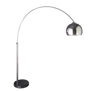 Coachhouse Modern Marble Based Chrome Arc Lamp