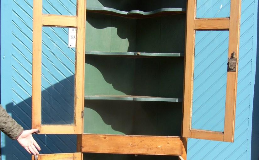 Original George III Pine CornerCupboard