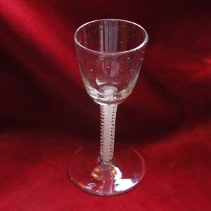 Georgian Opaque Twist Stem Cordial Glass