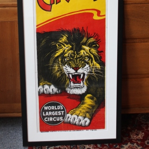 Original 1940s/1950s Screenprint Poster for Clyde Beatty Cole Bros. Circus