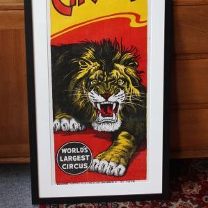 Original 1940s/1950s Screenprint Poster for Clyde Beatty Cole Bros. Circus