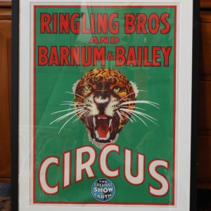 Original 1940s/1950s Lithographic Poster for Ring Ling Bros. & Barnum and Bailey Circus