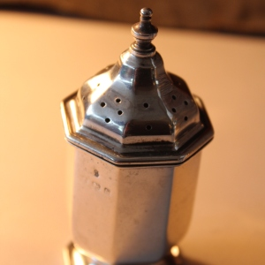 Solid Silver English Hallmarked Salt & Pepper Shakers