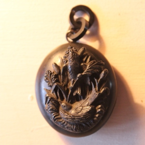 Decorative Victorian Vulcanite Locket